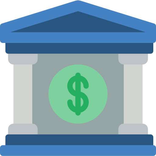graphic of a bank